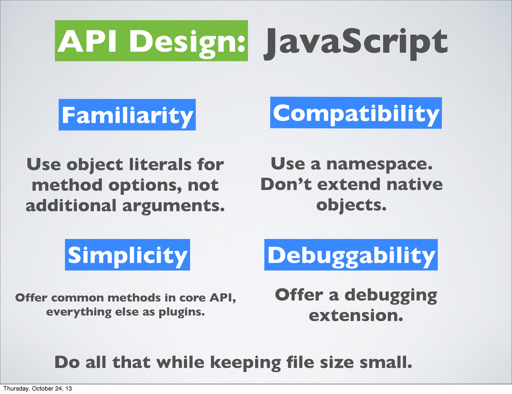 API Design: JavaScript Familiarity Simplicity C...
