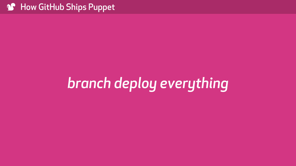 ) How GitHub Ships Puppet branch deploy everyth...