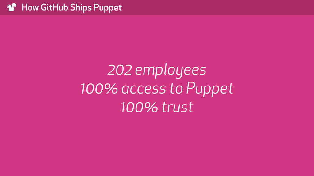 ) How GitHub Ships Puppet 202 employees 100% ac...