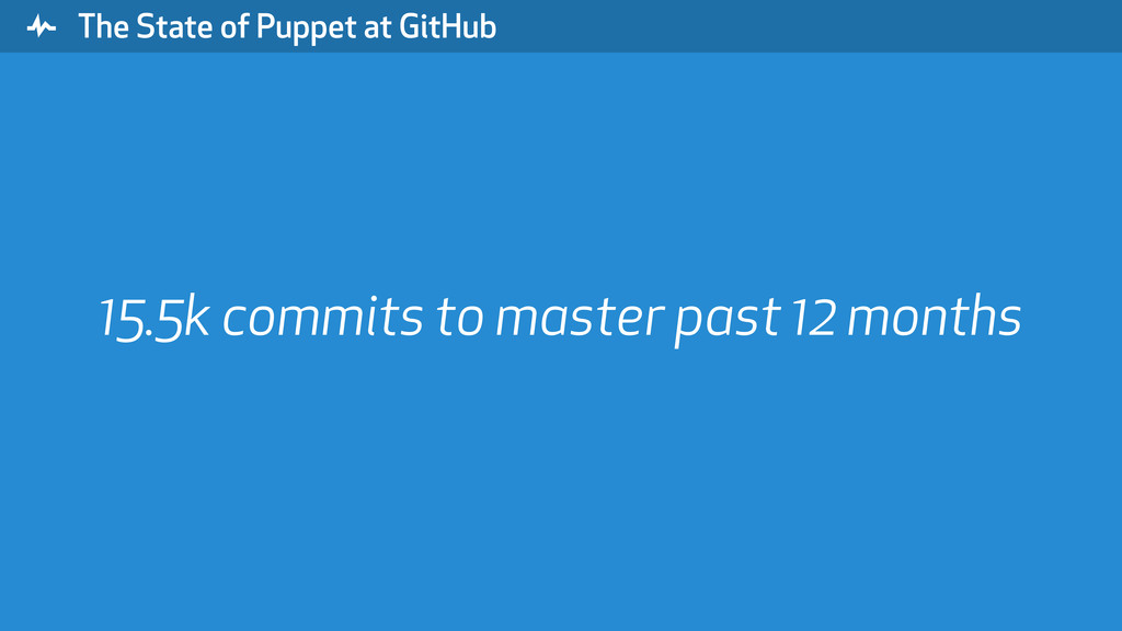 """ The State of Puppet at GitHub 15.5k commits t..."