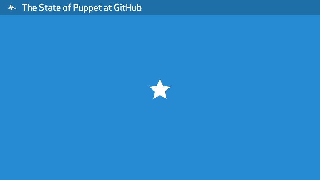 """ The State of Puppet at GitHub ⋆"