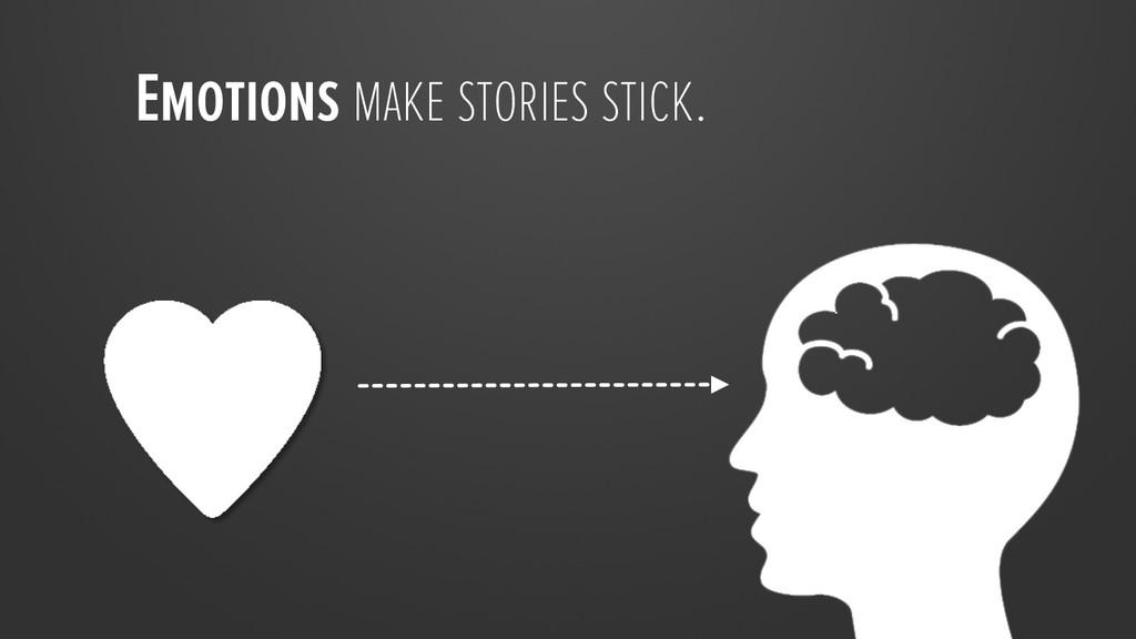 Emotions make stories stick.