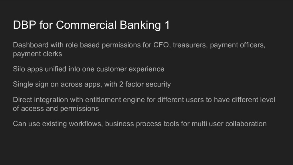 DBP for Commercial Banking 1 Dashboard with rol...