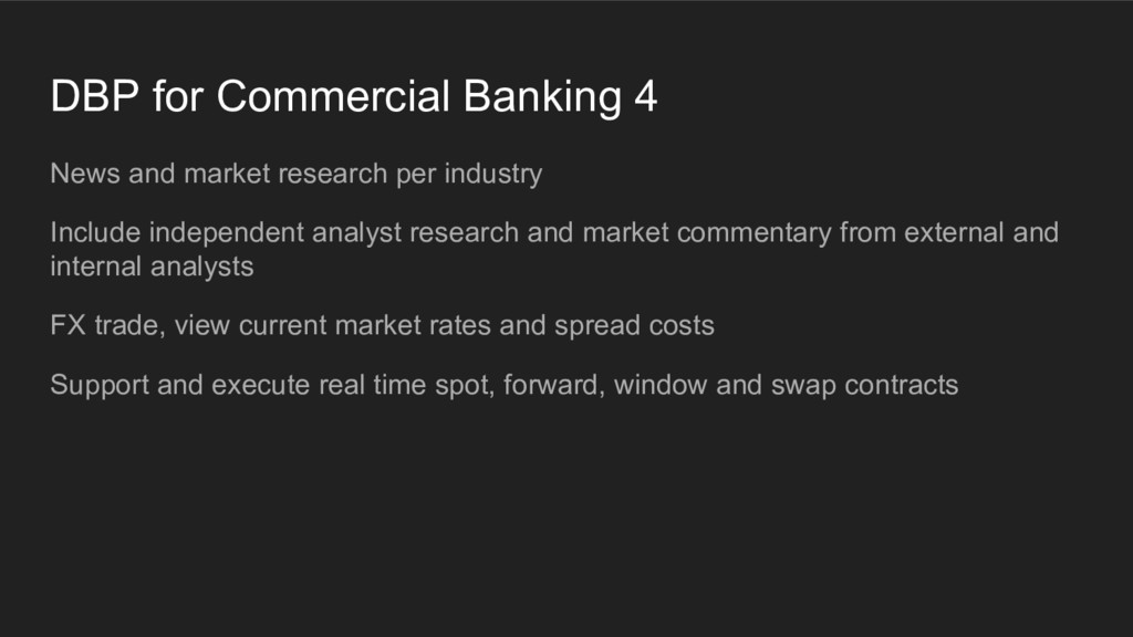 DBP for Commercial Banking 4 News and market re...