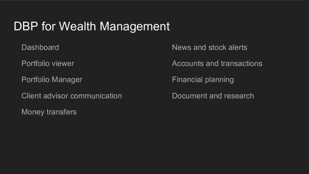DBP for Wealth Management Dashboard Portfolio v...