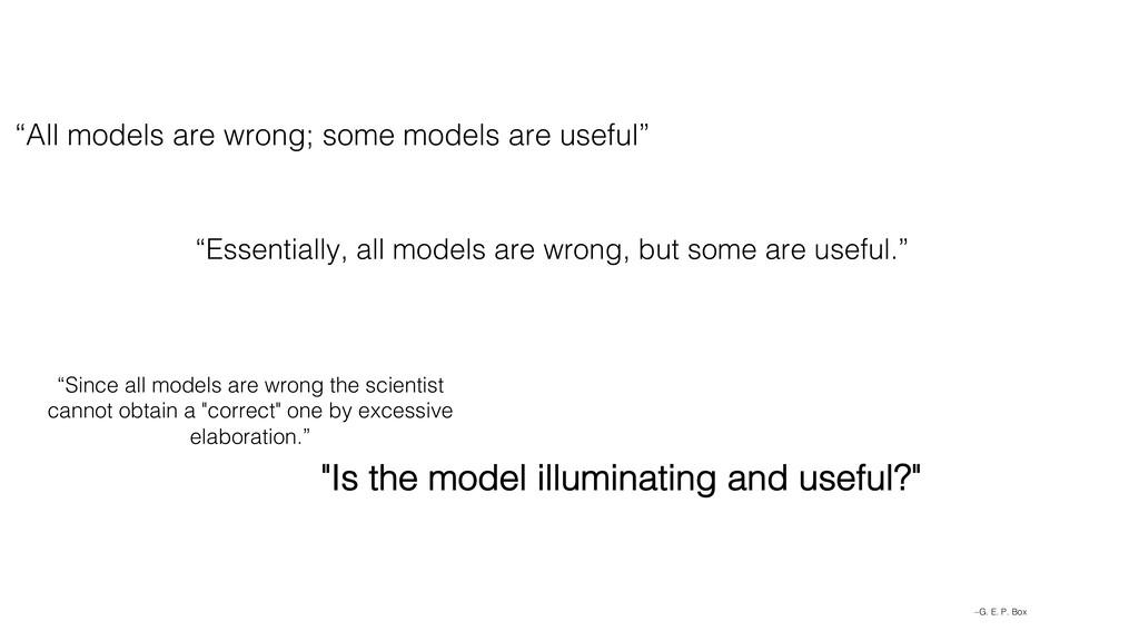 "–G. E. P. Box ""Essentially, all models are wron..."