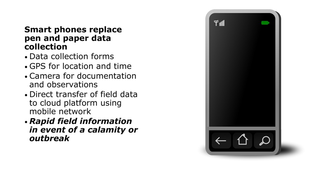 Smart phones replace pen and paper data collect...