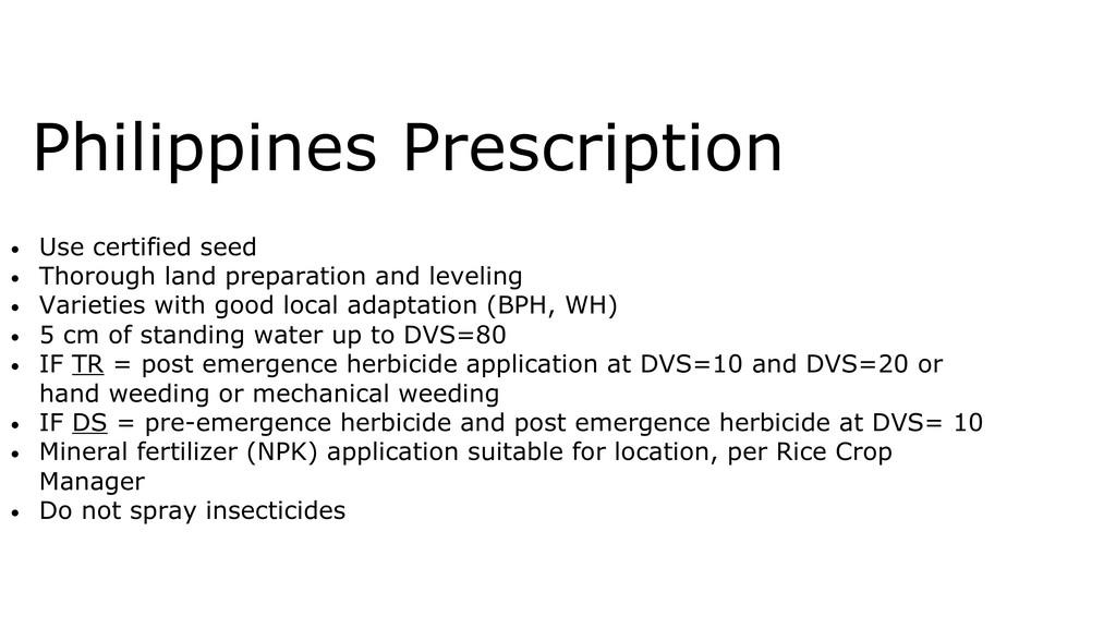 • Use certified seed • Thorough land preparatio...