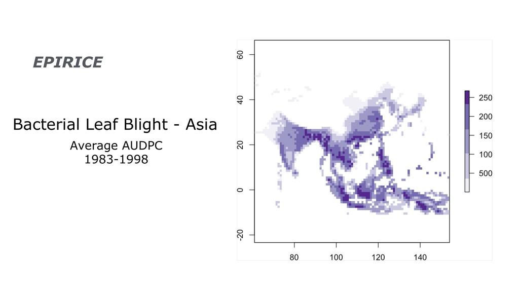 Bacterial Leaf Blight - Asia Average AUDPC 1983...