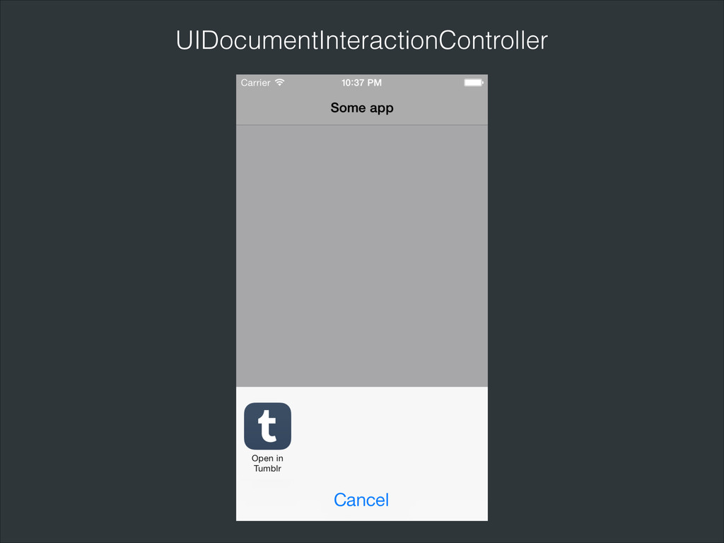 UIDocumentInteractionController