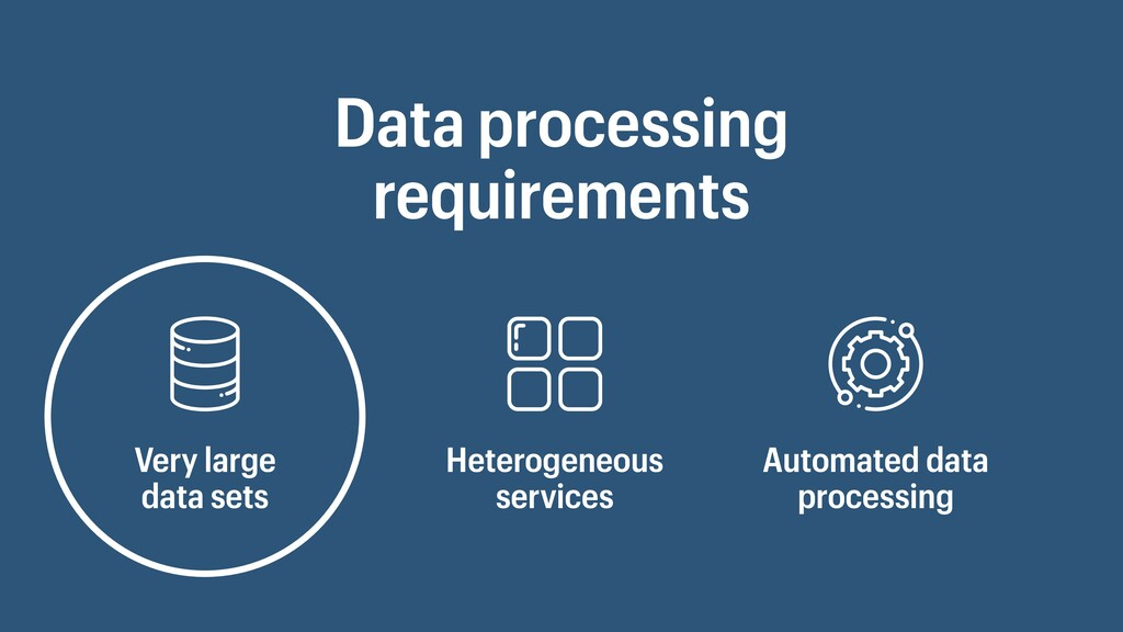 Data processing requirements Very large data se...