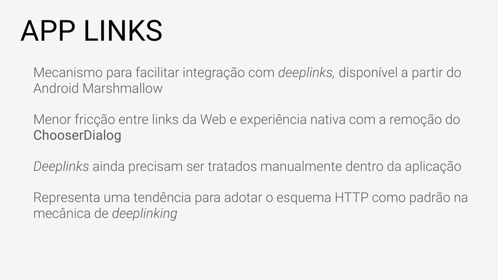 APP LINKS Mecanismo para facilitar integração c...