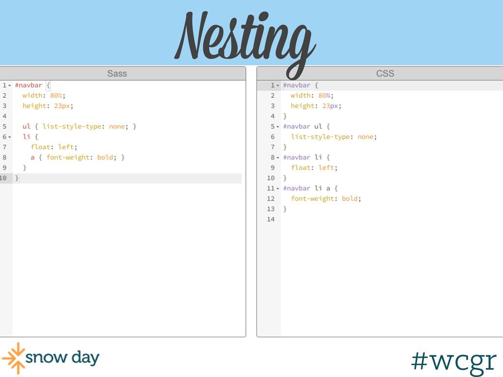 #wcgr Nesting #wcgr