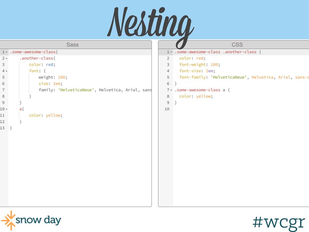 #wcgr Nesting Nesting #wcgr