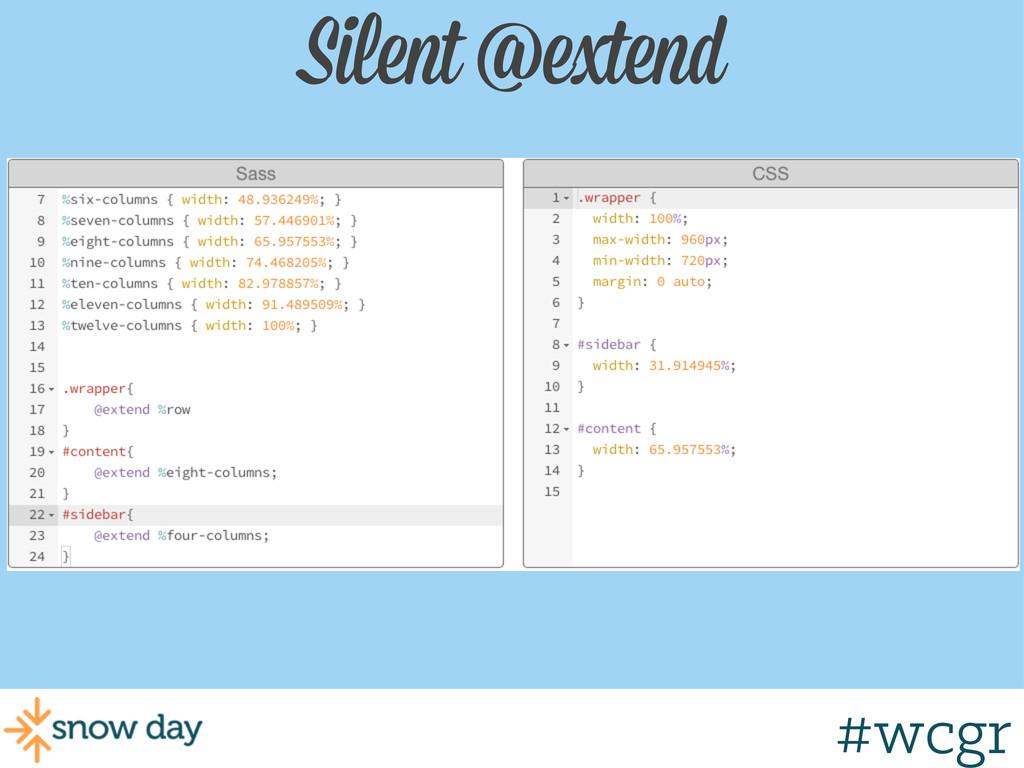 #wcgr Silent @extend #wcgr