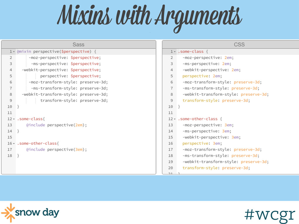 #wcgr Mixins with Arguments w/