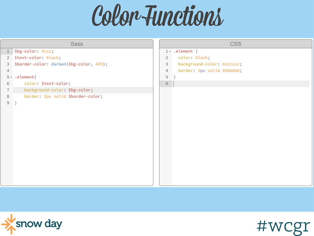 #wcgr Color Functions