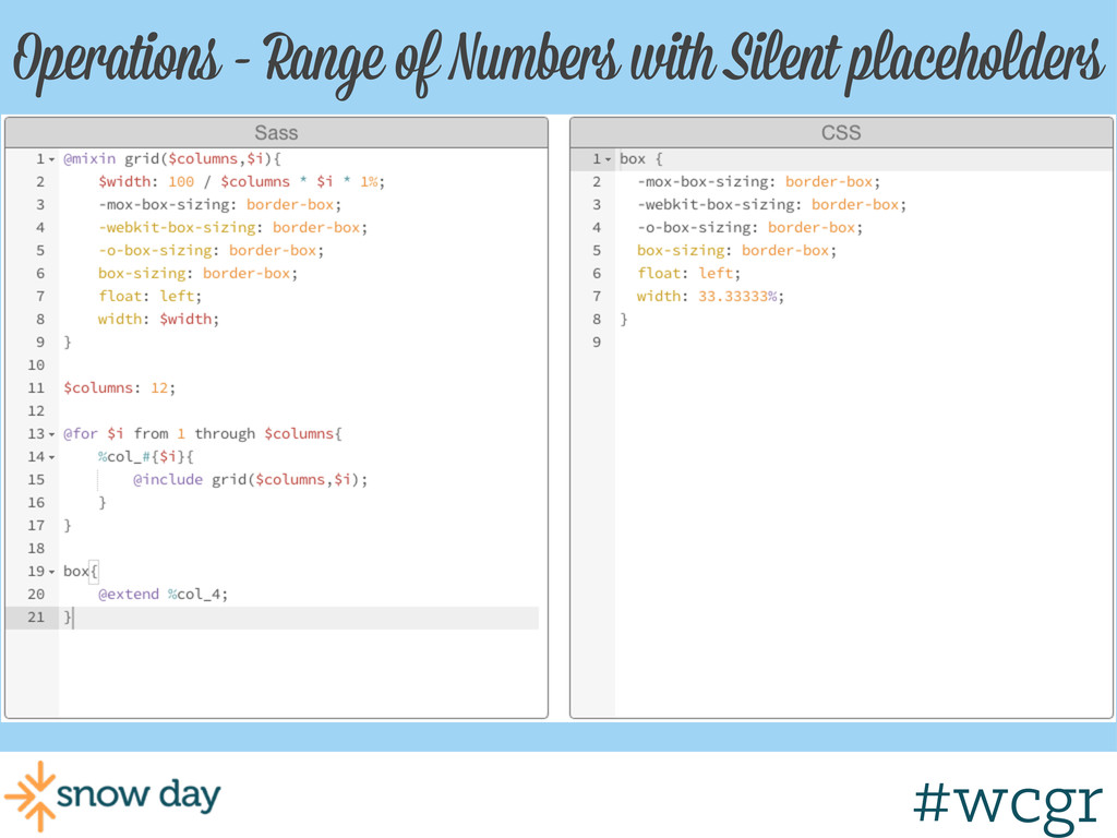 #wcgr Operations - Range of Numbers with Silent...