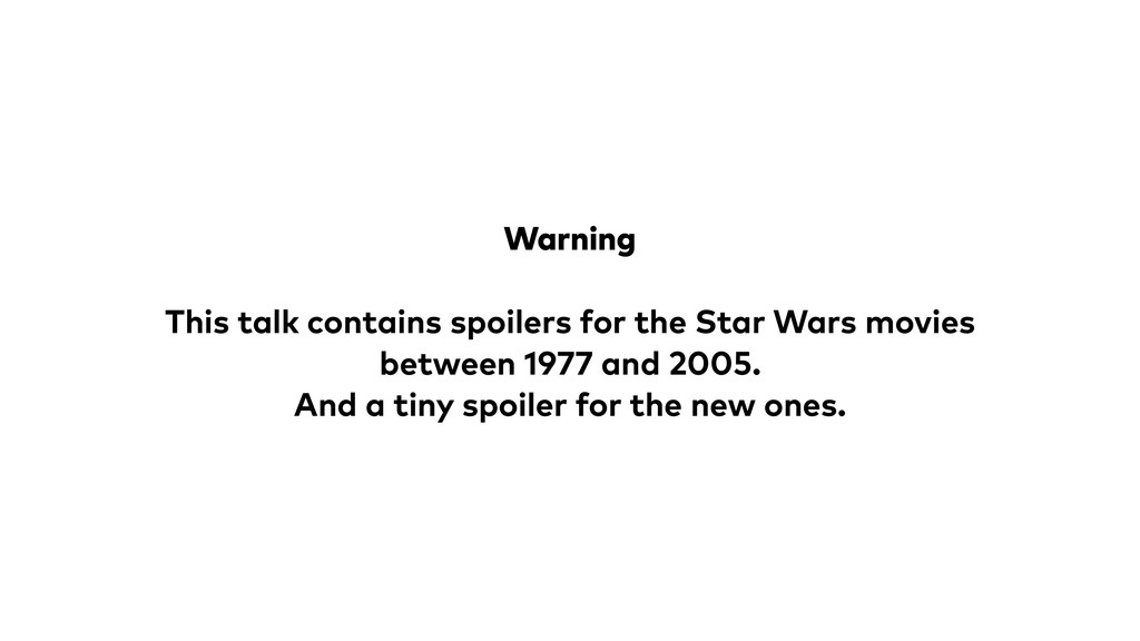 Warning This talk contains spoilers for the Sta...