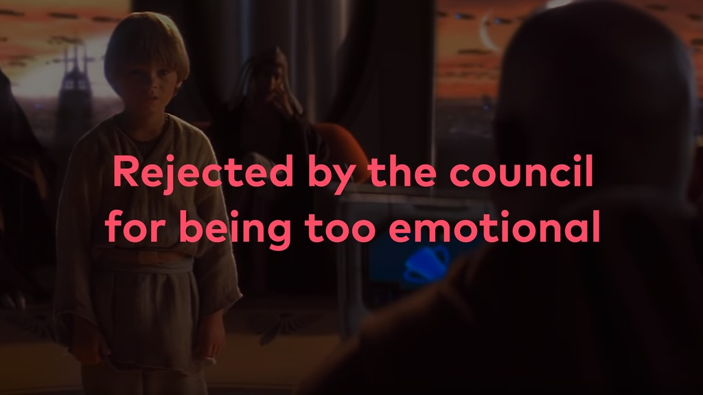 Rejected by the council for being too emotional