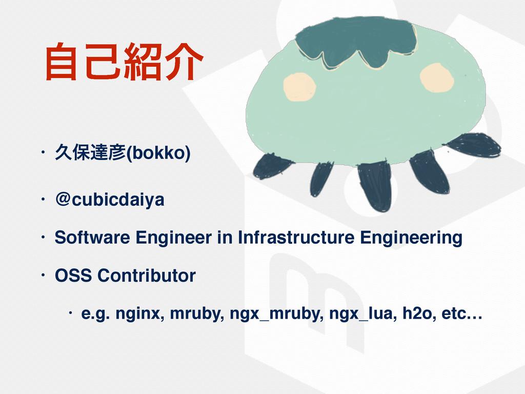 ࣗݾհ • ٱอୡ(bokko) • @cubicdaiya • Software Eng...