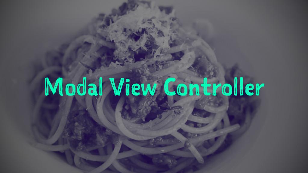 Modal View Controller
