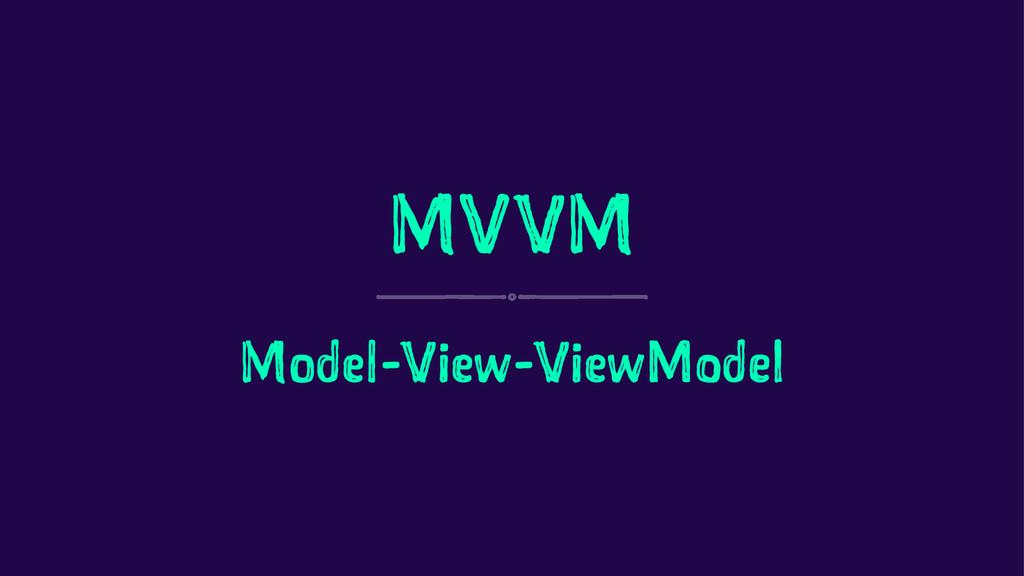 MVVM Model-View-ViewModel