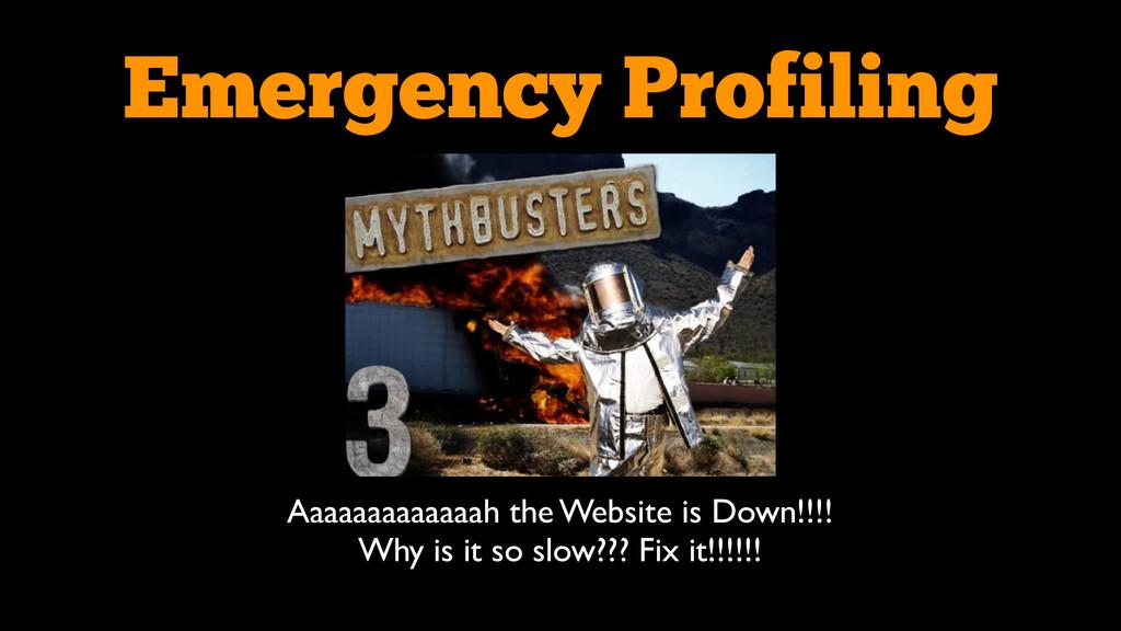 Emergency Profiling Aaaaaaaaaaaaah the Website ...
