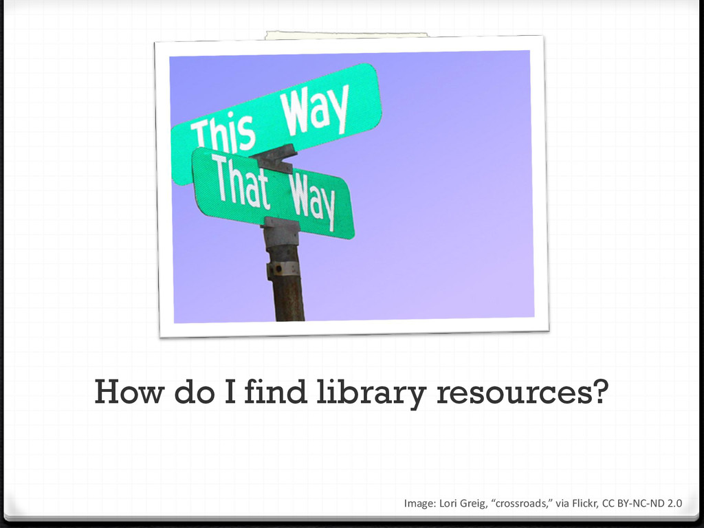 How do I find library resources? Image: Lori Gr...