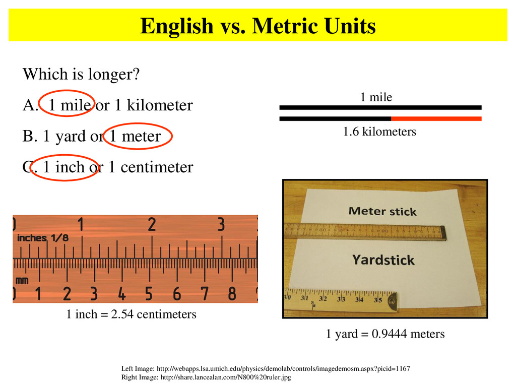 English vs. Metric Units Left Image: http://web...