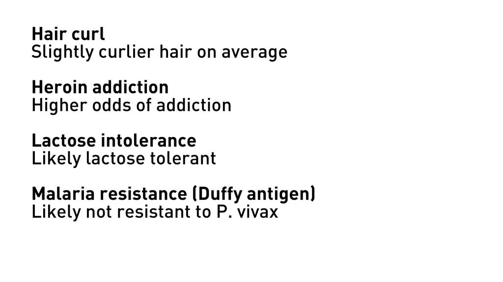 Hair curl Slightly curlier hair on average Hero...