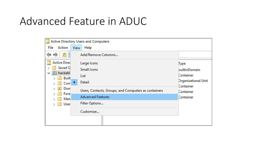Advanced Feature in ADUC