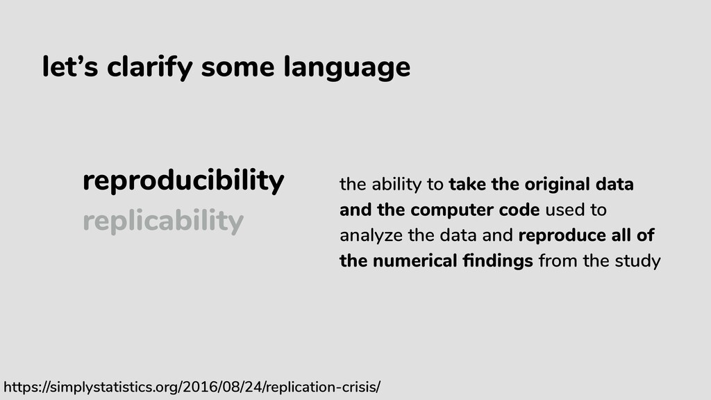 let's clarify some language reproducibility rep...