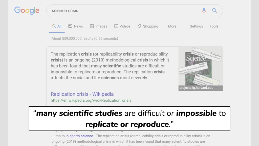 """""""many scientific studies are difficult or impossi..."""