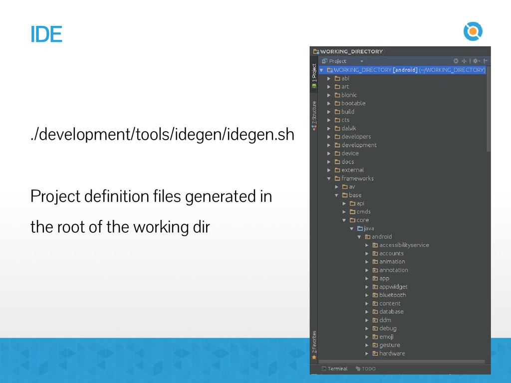 IDE ./development/tools/idegen/idegen.sh Projec...