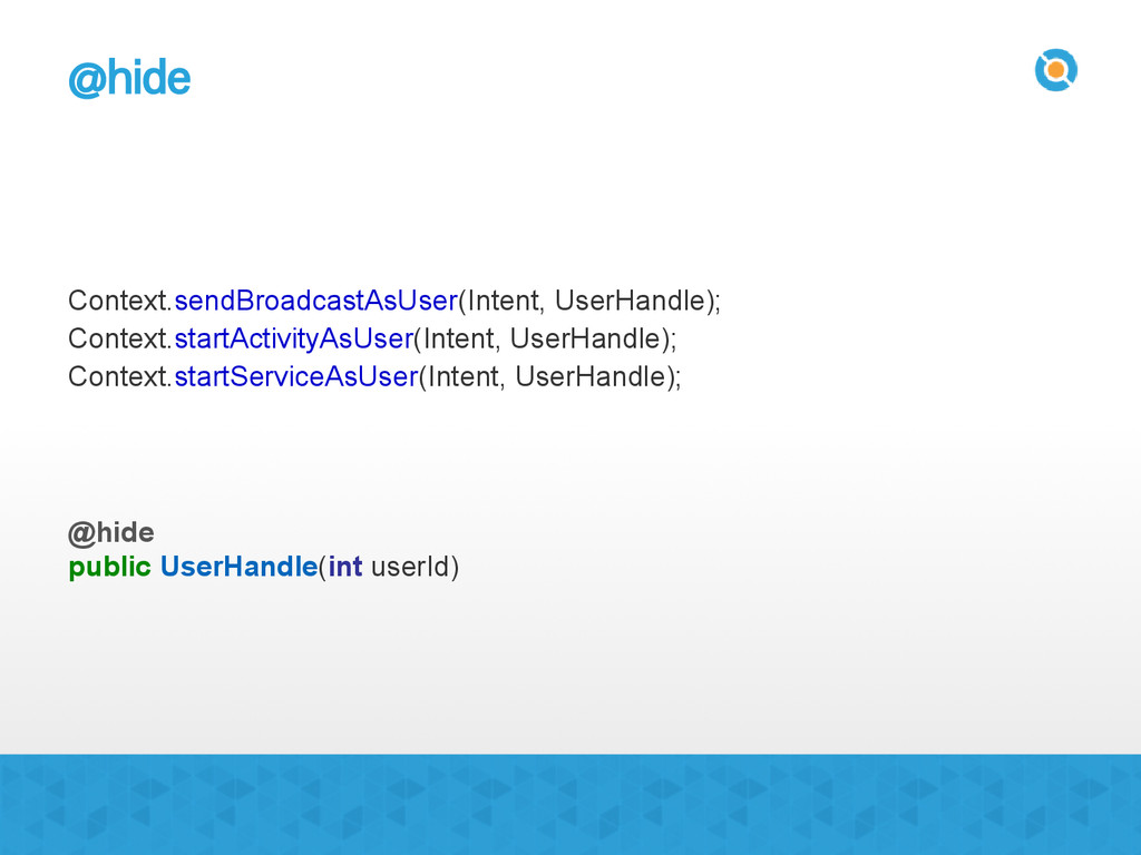 @hide Context.sendBroadcastAsUser(Intent, UserH...