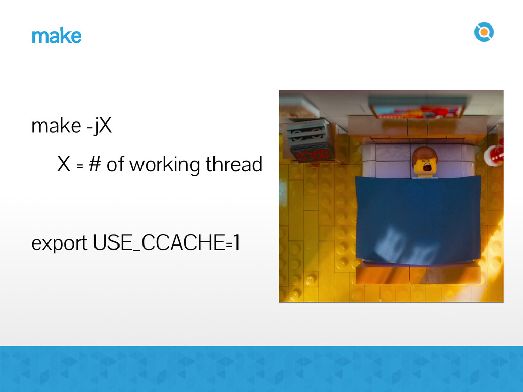 make make -jX X = # of working thread export US...