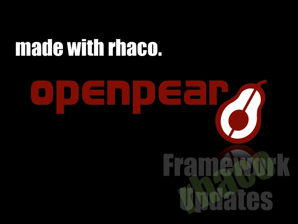 Framework Updates rhaco made with rhaco.