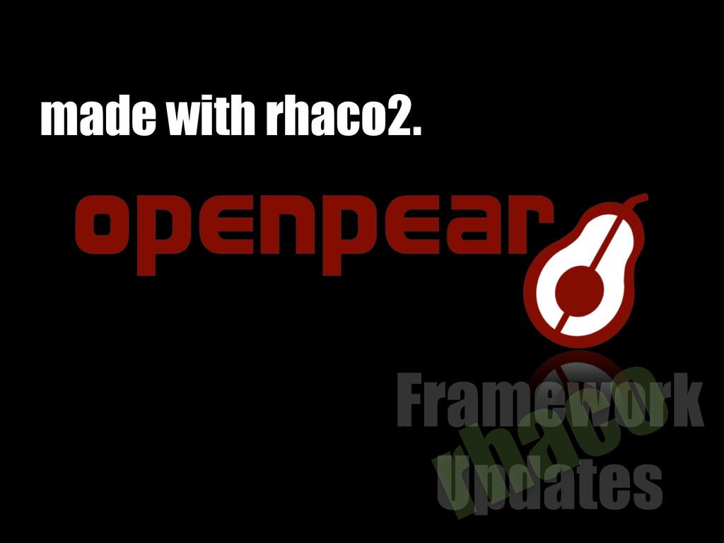 Framework Updates rhaco made with rhaco2.