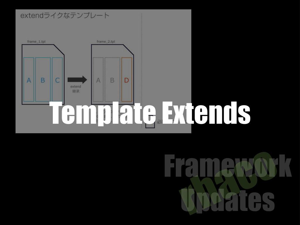 Framework Updates rhaco Template Extends