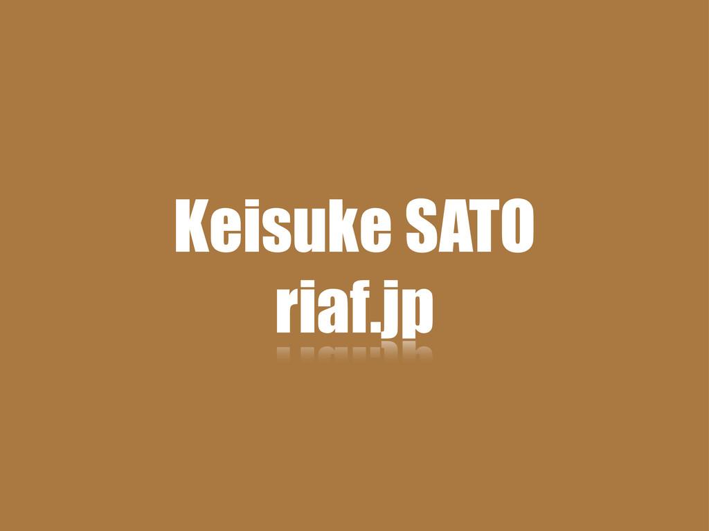 Keisuke SATO riaf.jp