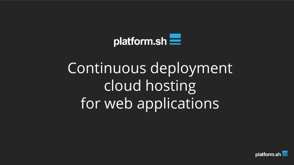 Continuous deployment cloud hosting for web app...