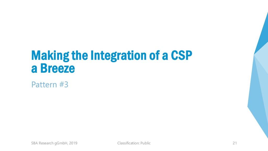Classification: Public 21 Making the Integratio...