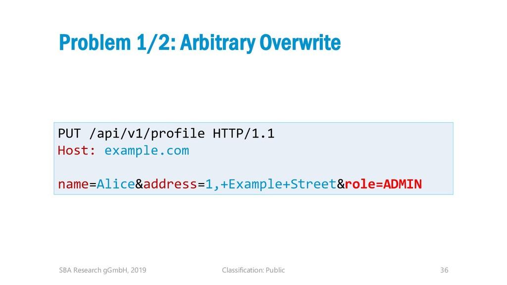 Classification: Public 36 Problem 1/2: Arbitrar...