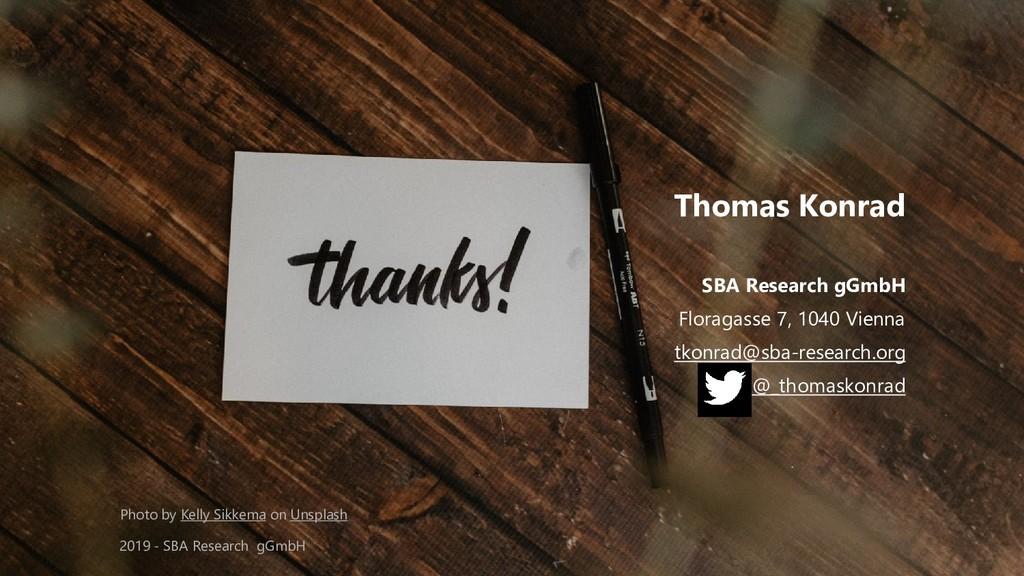 Classification: Public 65 Thomas Konrad SBA Res...