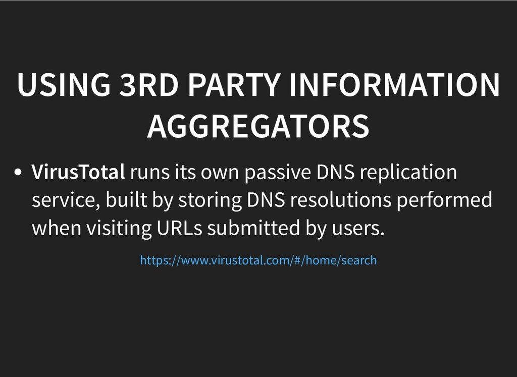 USING 3RD PARTY INFORMATION USING 3RD PARTY INF...