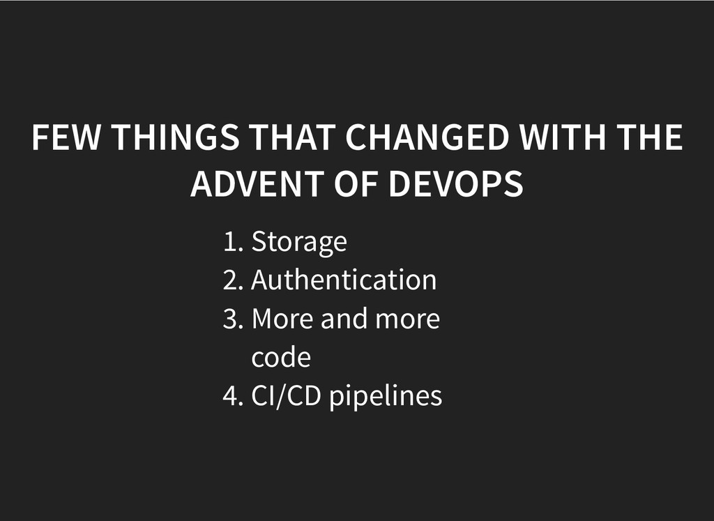 FEW THINGS THAT CHANGED WITH THE FEW THINGS THA...