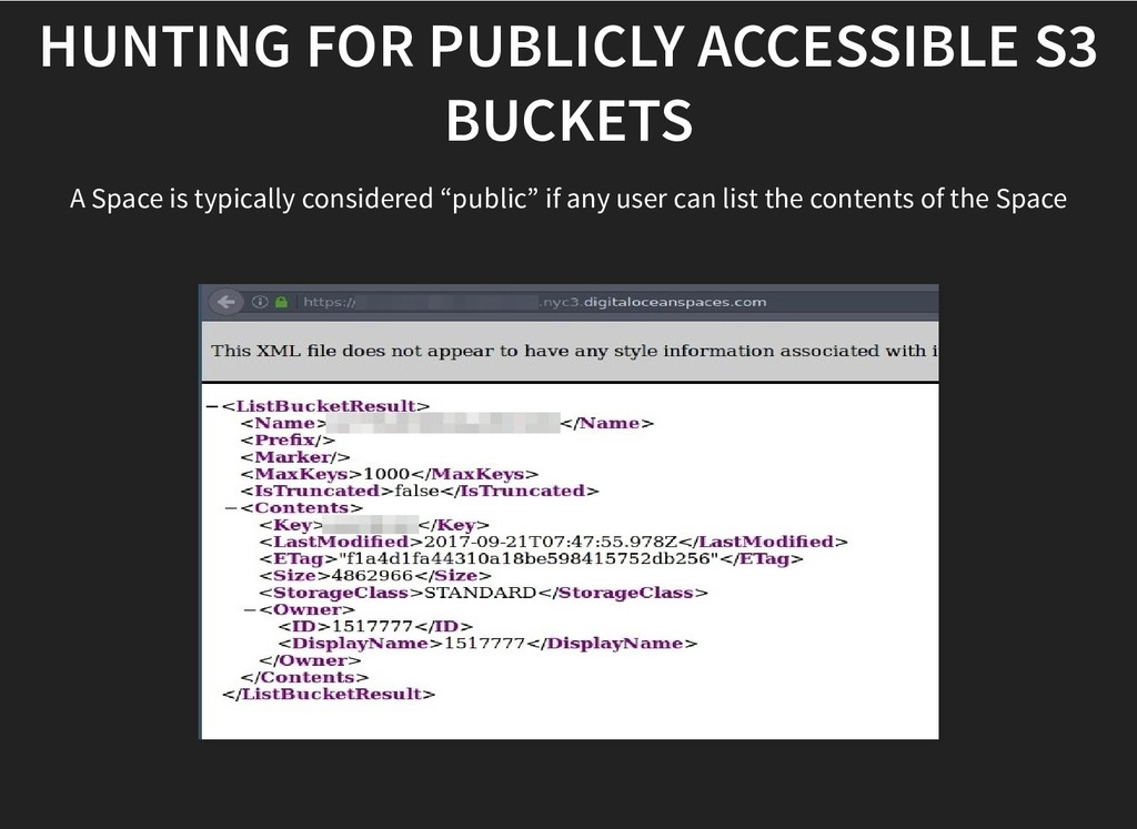 HUNTING FOR PUBLICLY ACCESSIBLE S3 HUNTING FOR ...