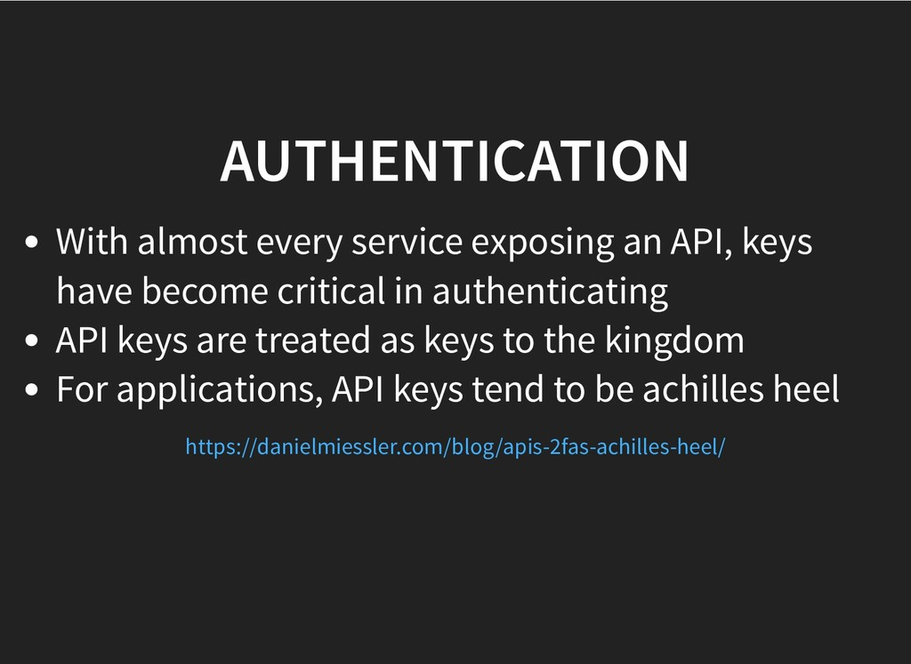 AUTHENTICATION AUTHENTICATION With almost every...
