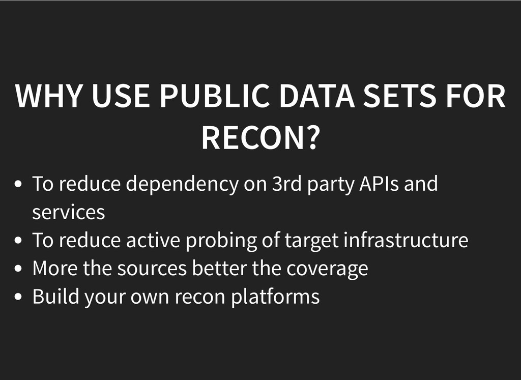WHY USE PUBLIC DATA SETS FOR WHY USE PUBLIC DAT...